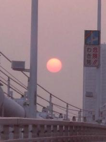 レインボーブリッジの夕日