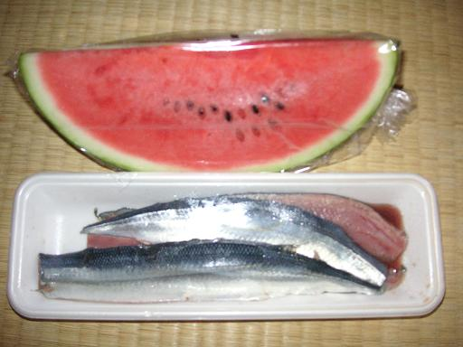 西瓜と秋刀魚