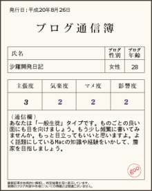 ブログ通信簿3