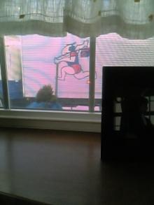 窓 一面に飛脚さんが!!