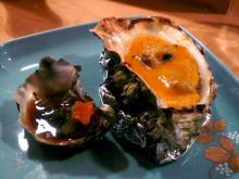 熊本産牡蠣と牡蠣のウニ焼き