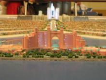 ナキール内パームジュメイラ模型アトランティスH