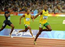 ボルト世界新で金メダル