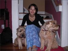 C with dog