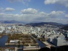 1月22日広島城付近