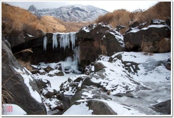 仙酔峡の滝全景