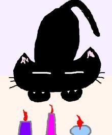 キャンドル猫