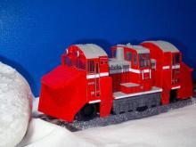 DE15形ラッセル式除雪機関車複線用チョロQ1