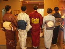 京都で着物1
