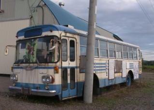 枯れたバス