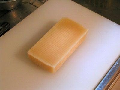 豆腐が凍った
