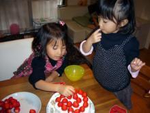 我が家のちびっこギャング-ケーキ製作