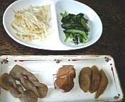 角煮とナムル