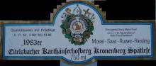 個人的ワインのブログ-Eitelsbacher Karthauserhofberg Kronenberg 1983