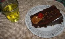 torta y gaseosa