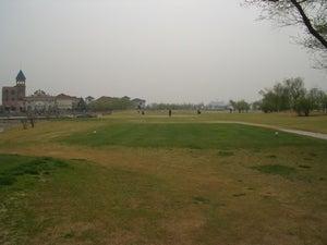 温泉国際ゴルフ場第1ホール