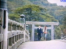 ☆keicoのBlogだょ☆-ぉ敬☆宇治橋渡り中.jpg