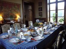 ジャロンジェ城朝食