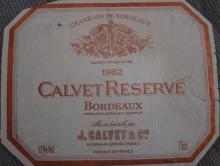 Calvet Reserve 1982
