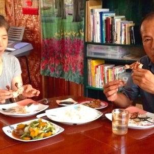 今日の昼食はJトピアで作ったフィリピン料理をシェアの画像