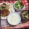 夕ご飯 豆腐のハンバーグの画像