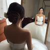 ハートシェープのドレスの画像