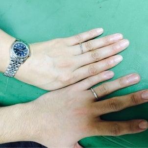結婚指輪出来上がりました♡の画像