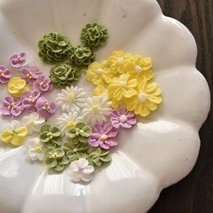 花かごアイシングクッキーの画像