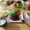 作家さんの器deハンバーグプレートのお夕飯の画像