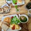 手作りパンdeカフェ風モーニングの画像