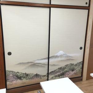 富士山 ふすまの画像