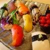 ■野菜寿司とワインのマリアージュの画像