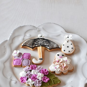 ナチュラルアイシングクッキー体験レッスン・梅雨の画像