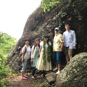 ハワイ神話・モオの岩でのフラ・カヒコの画像