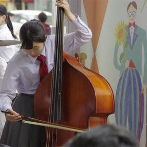 水戸桜ノ牧高校吹奏楽部ミニコンサート(京成百貨店正面口)の画像