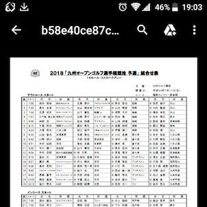 九州オープンゴルフ選手権競技予選  2018.7.11の画像