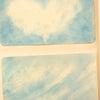 青1本のパステル画の画像
