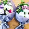 仏花をクリスタル花瓶で飾りたいの画像