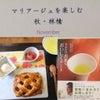 日本茶とアップルパイの画像