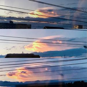 ファルコン?龍?みたいな雲が太陽の塔からの帰りの電車で現れた(^^)の画像