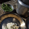 インディカ米で豆ごはんの画像