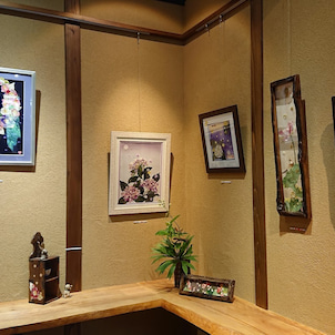 風花古布絵展 メインの部屋の画像