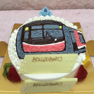 のりものケーキの画像