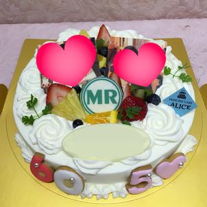 写真ケーキの画像