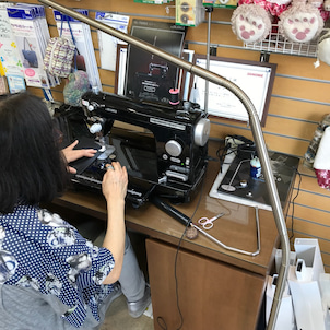 JUKI SLー700EXを使う500円ポーチの講習会の画像