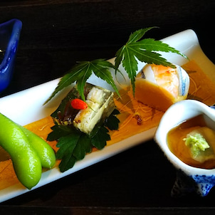 琵琶湖産の鮎の塩焼きなど、文月のお料理。の画像