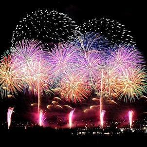 神明の花火大会の画像