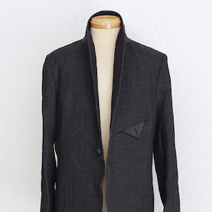 bajra 和紙リネン綾織先染めジャケット(133BJ06) / Aチャコールグレーの画像