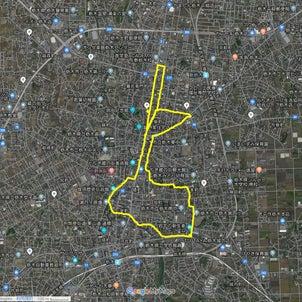 ◆GPS Drawing: 新しょうが(栃木市)の画像