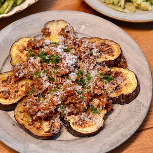 米茄子のステーキ ごぼうラグーソースのせの画像